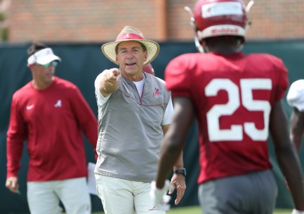 Coach Nick Saban prepares the Tide for another year at the top. (Kent Gidley/University of Alabama Athletics)