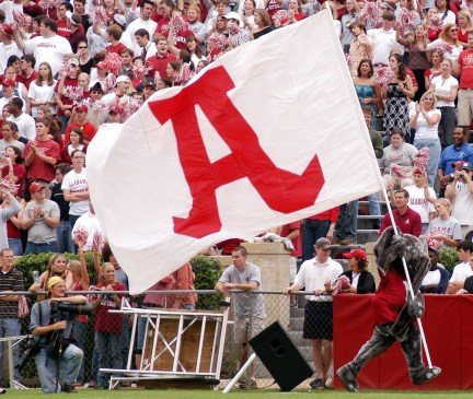 Since its debut on January 1, 1980, at the Sugar Bowl, Big Al has been the official mascot of the University of Alabama Crimson Tide.(Paul W. Bryant Museum / The University of Alabama)