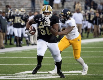 Left tackle Tytus Howard will anchor the ASU offensive line this season. (Alabama State Athletics)