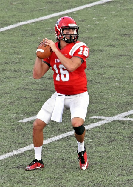 Blaze Schillace is one of three Hawks contending for the starting quarterback job this season.(Huntingdon College Athletics)