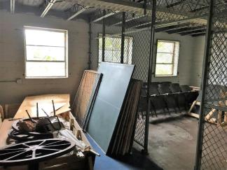"The long-vacant Academy Street High School in Troy is used for storage and much of the property is frozen in time. But DesignAlabama architects and planners say the building has ""good bones"" and could be repurposed for a number of uses. (Ike Pigott / Alabama NewsCenter)"
