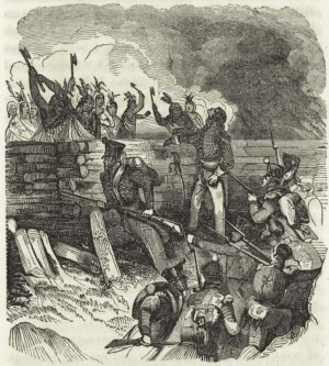 Battle of Horseshoe Bend (Tohopeka), Creek War, present-day southern Alabama. (The New York Public Library, Wikipedia)