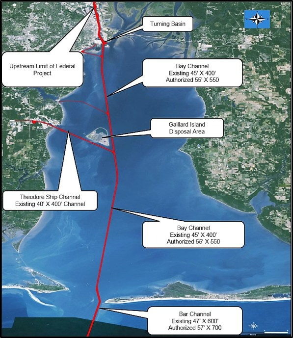 Plans for a deeper and wider channel would allow for the larger ships to carry greater loads in and out of the port. (Army Corps of Engineers)