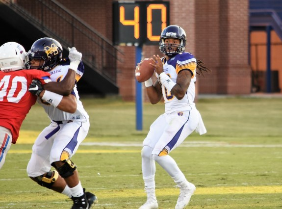 Li'Jon Cordier is among four quarterbacks in contention for Miles' starting job this fall. (Miles College Athletics)