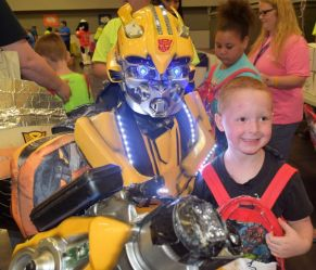 The Transformer was a hit with kids. (Donna Cope/Alabama NewsCenter)