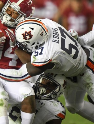 Deshaun Davis was part of last year's strong Tiger defense and is back for more. (Auburn Athletics)