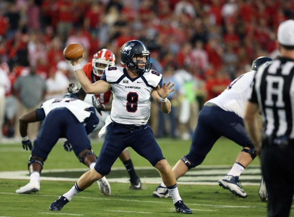 Senior quarterback Devlin Hodges is the key to this year's Samford team's success, coach Chris Hatcher says. (Samford University Athletics)