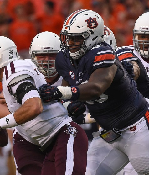 Dontavius Russell (95), a leader on Auburn's defense, is an unselfish and underrated player, Coach Gus Malzahn says. (Dakota Sumpter/Auburn Athletics)