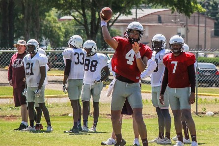 Aqeel Glass is one of three quarterbacks contending for the starting job at Alabama A&M. (Alabama A&M Athletics)