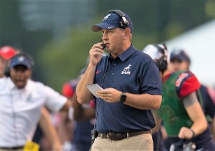 Samford Coach Chris Hatcher sees a strong offense returning and a few questions remaining to be answered on defense. (Marvin Gentry/Samford University Athletics)