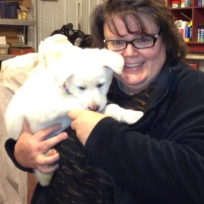 Eirwen as a mere pup - the bond was established right from the start. (Kelly Buchanan)
