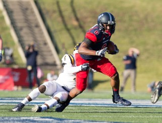Wide receiver Kelvin McKnight is an important part of Samford's offensive attack. (Samford University Athletics)