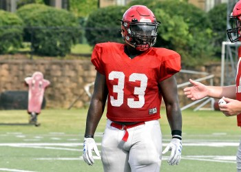 Middle linebacker Trey Hayes, a prolific tackler, is back for his senior season at Huntingdon. (Huntingdon College Athletics)