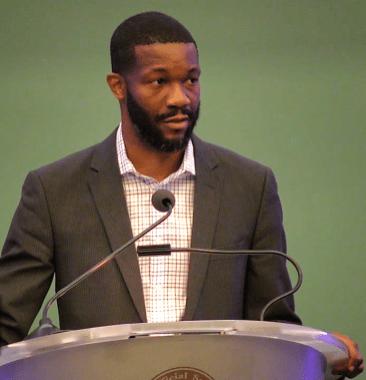 "Birmingham Mayor Randall Woodfin is a self-proclaimed ""club kid"" having grown up at Boys and Girls Club. (Dennis Washington / Alabama NewsCenter)"