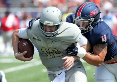 South Alabama's Riley Cole makes a tackle during last year's game with Idaho. (Scott Donaldson/Icon Sportswire)