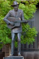 Hank Williams statue, Lister Hill Plaza in Montgomery, 2010. (The George F. Landegger Collection of Alabama Photographs in Carol M. Highsmith's America, Library of Congress, Prints and Photographs Division)