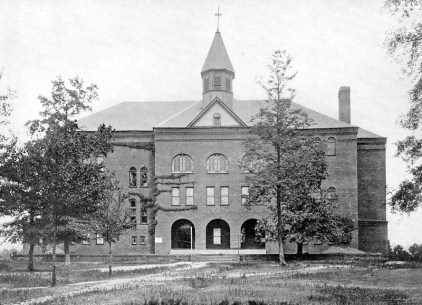Photograph of the Old Main or Main Building at Howard College in East Lake, from Views of Birmingham Alabama: With A Glimpse at Some of The Natural Resources of the Birmingham District and the Industries Based Thereon (1908) New York: Isadore Newman & Son Bankers. (BhamWiki)