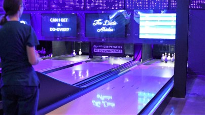 Duckpin bowling is among the main attractions at The Woolworth. (Dennis Washington/Alabama NewsCenter)