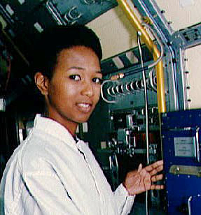 American astronaut Mae Jemison at Florida's Kennedy Space Center, January 1992. (Image credit: NASA)