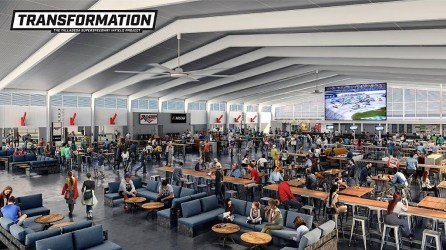 A rendering shows Transformation – The Talladega Superspeedway Infield Project, set for completion in fall 2019. (Talladega Superspeedway)