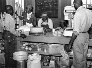 A cooperative store in Gee's Bend, Wilcox County, in a 1939 photograph for the Farm Security Administration. (From Encyclopedia of Alabama, courtesy of the Library of Congress)