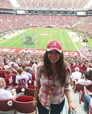 Miss DC Allison Farris has a Roll Tide moment. The app developer has bachelor's and master's degrees from UA. (contributed)