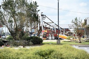 Dothan took a beating in the storm with trees uprooted and buildings and homes damaged. (Wynter Byrd)
