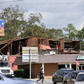 Businesses took a hit as stormy weather rolled through Dothan. (Wynter Byrd)