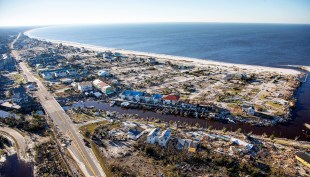 The homes and businesses along US 98 are left in devastation by Hurricane Michael in Mexico Beach, Florida. (Mark Wallheiser/Getty Images)