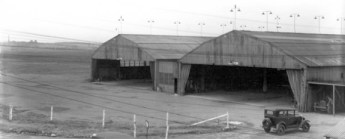 Two large hangers at Roberts Field, c. 1922-30. (From Bhamwiki, airfields-freeman.com)