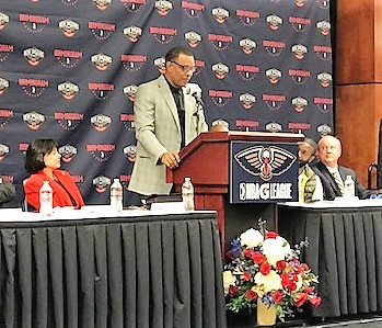 New Orleans Pelicans head coach Alvin Gentry talks about the importance of the Birmingham G League team to his team's future success. (Michael Tomberlin / Alabama NewsCenter)