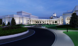 The drive to raise $15 million for the University of Alabama's Performing Arts Academic Center, shown in a rendering, is one of the University's major fundraising initiatives. (file)