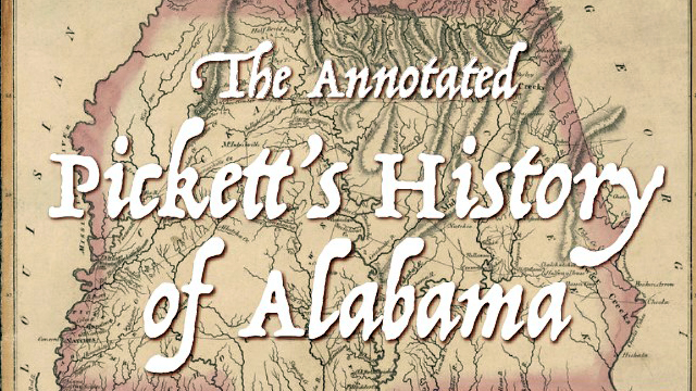 'Pickett's History of Alabama' to be re-released this month