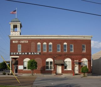 Historic buildings in Cullman, 2010. (The George F. Landegger Collection of Alabama Photographs in Carol M. Highsmith's America, Library of Congress, Prints and Photographs Division)