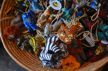 These ornaments were made by African artists. (Karim Shamsi-Basha/Alabama NewsCenter)