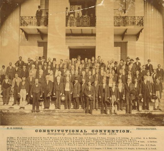 Delegates to the Alabama Constitutional Convention of 1875 on the steps of the Capitol. (Alabama Department of Archives and History)