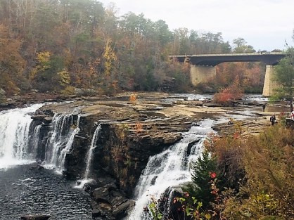The falls at Little River Canyon Nature Preserve are a lovely sight. (Donna Cope/Alabama NewsCenter)