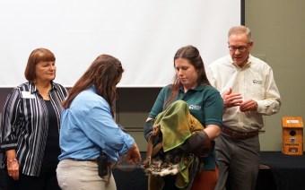 Introducing Shelby, the new American bald eagle education ambassador at the Alabama Wildlife Center. (Erin Harney / Alabama NewsCenter)