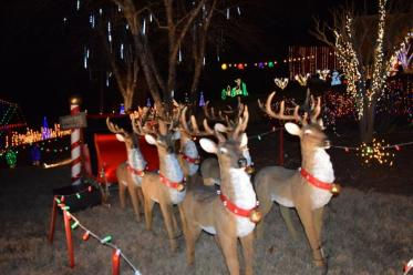 This home in the Peppertree neighborhood of Trussville has decked its lawn with Christmas cheer. (Donna Cope)