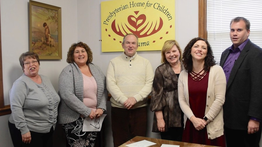 Doug Marshall and his staff at the Presbyterian Home for Children. (Karim Shamsi-Basha/Alabama NewsCenter)