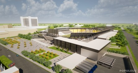 The new $175 million stadium next to the BJCC is expected to be completed by the summer of 2021. (Populous)
