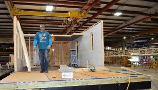 Stone Canyon Cabins in Brilliant builds tiny houses in assembly-line fashion with a team of craftsmen, engineers and builders. (Michael Tomberlin / Alabama NewsCenter)