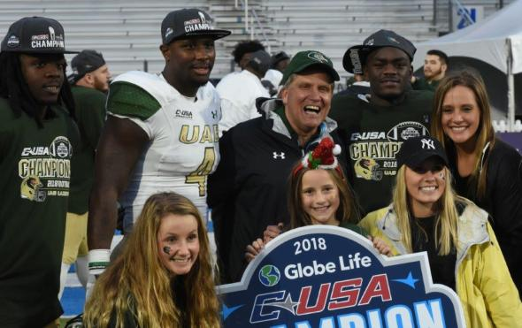 UAB fans celebrate the C-USA title.(Solomon Crenshaw Jr. / Alabama NewsCenter)