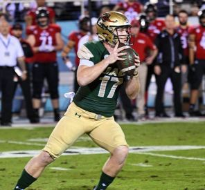UAB quarterback Tyler Johnson III threw for 1,275 yards and 11 touchdowns in the Boca Raton Bowl. (UAB Instagram)