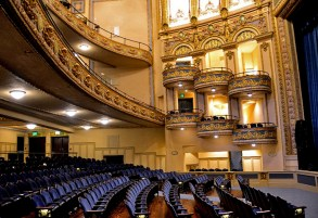 """The interior of the Lyric Theatre in downtown Birmingham has been restored to its former """"movie palace"""" splendor. The theater now hosts live performances as it did at its founding in 1914. (From Encyclopedia of Alabama, photo courtesy of the Alabama NewsCenter)"""