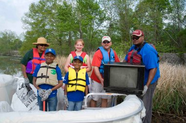 Renew Our Rivers volunteers collect a wide assortment of trash on our waterways. (file)