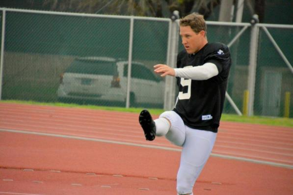 Birmingham Iron kicker Nick Novak at training camp. (contributed)