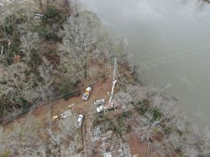 An EF-2 tornado tore through the community of Wetumpka Saturday afternoon, leaving thousands of Alabama Power customers affected. Homes and buildings were also destroyed. (Jason McDade)