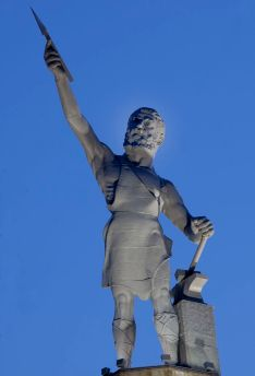 Vulcan statue, Birmingham, 2010. (The George F. Landegger Collection of Alabama Photographs in Carol M. Highsmith's America, Library of Congress, Prints and Photographs Division)