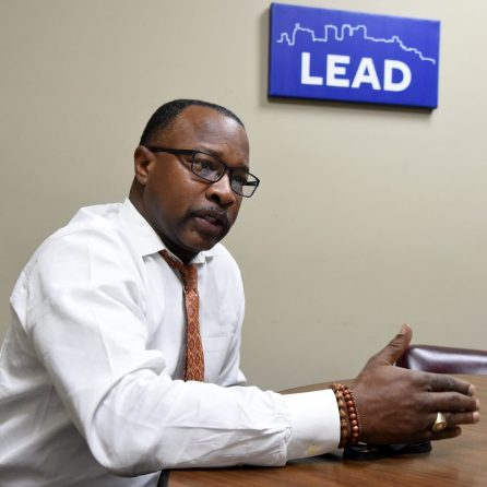 Darryl Washington, director of programs for Urban Impact Inc., discusses plans for revitalization plans for portions of the 4th Avenue District. (Mark Almond)